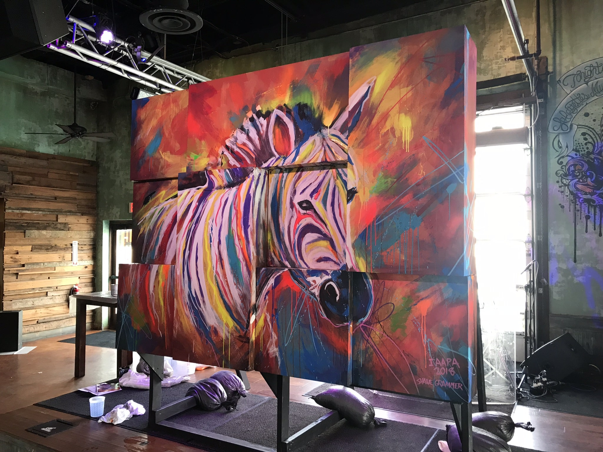 Picture of PGAV Zebra painting from an angle