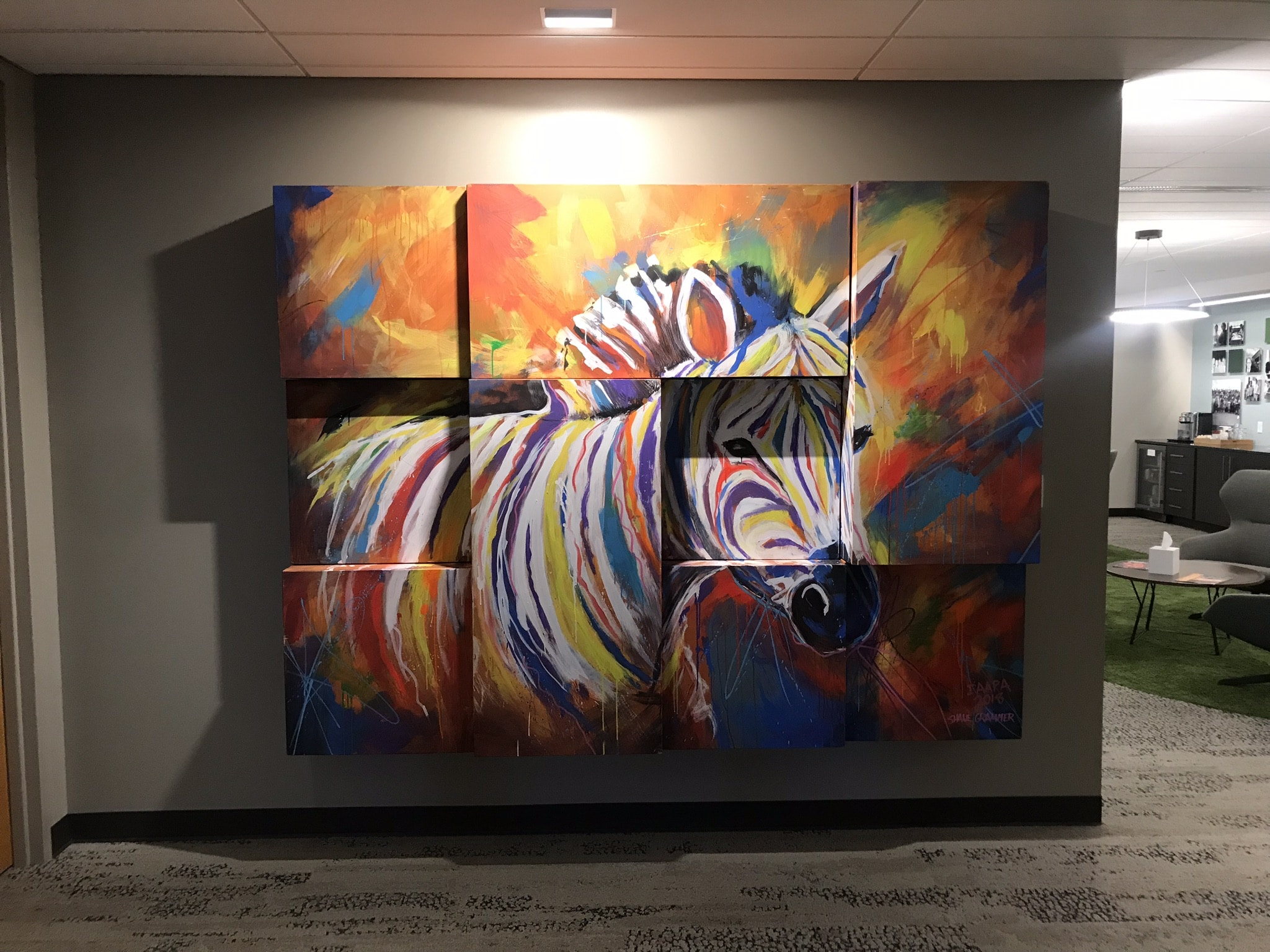 Front view picture of PGAV Zebra painting